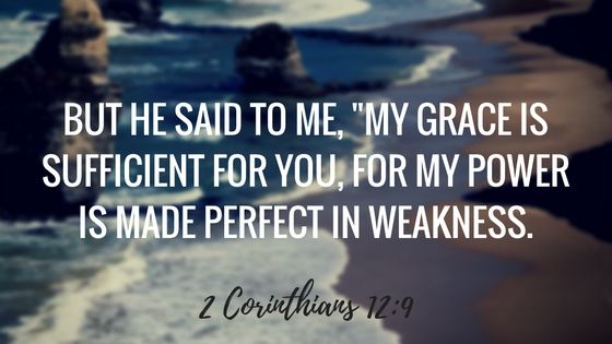God's grace is sufficient [2 Corinthians 12:9] | amandabixler.com