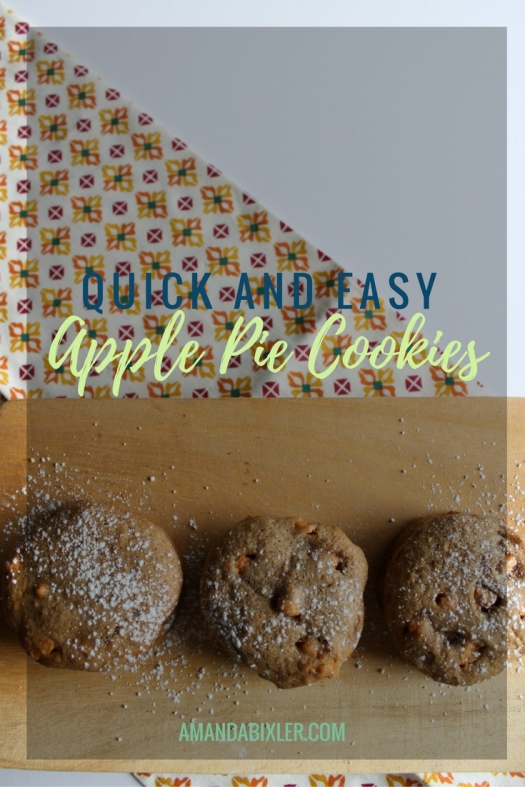 The perfectly fall cookies - simple ingredients, tons of spices, and lots of apple flavor | amandabixler.com