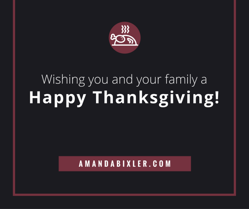 Happy Thanksgiving | amandabixler.com